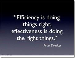 Eficacia vs eficiencia