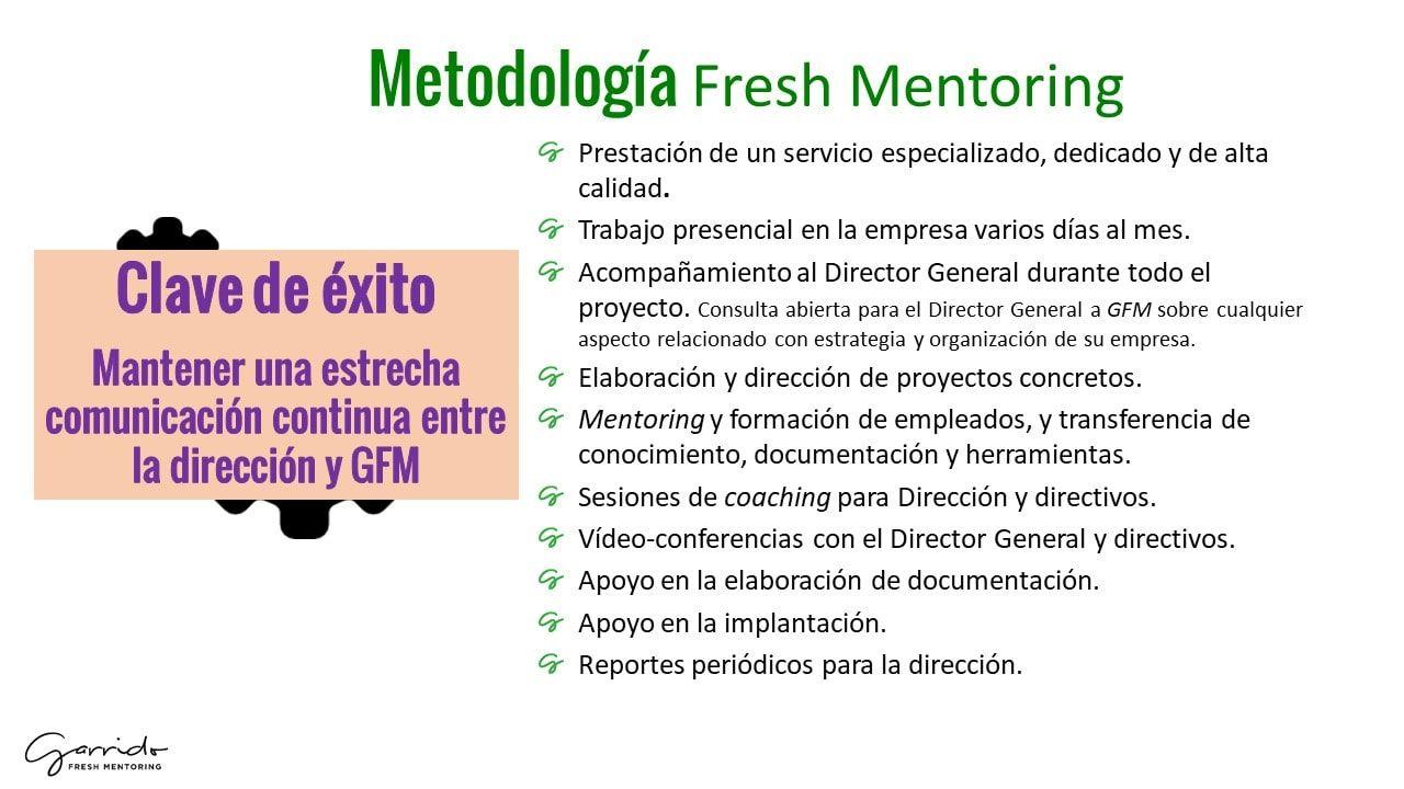 metodologia fresh mentoring
